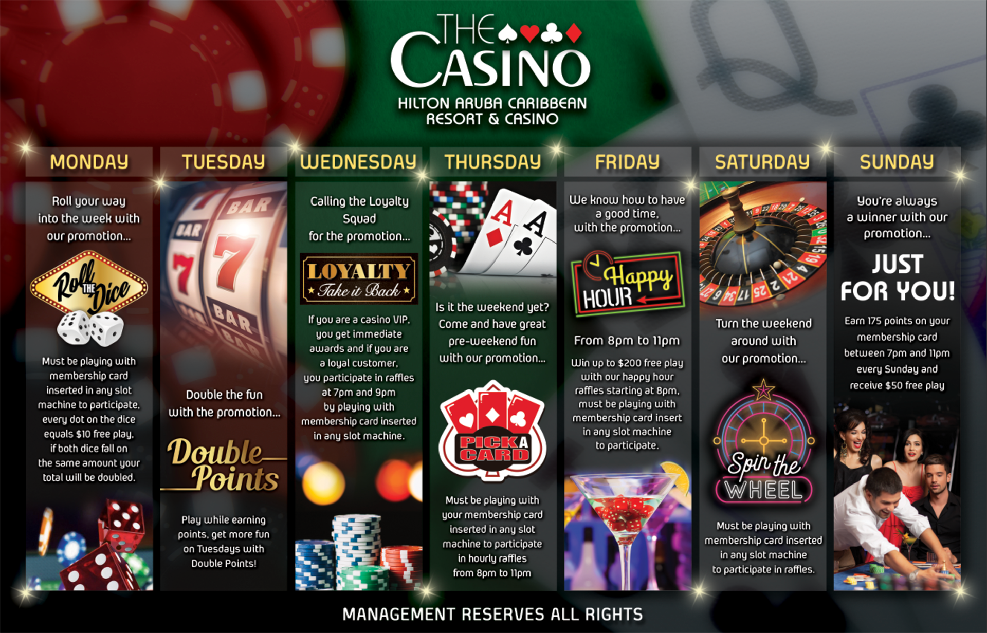 Weekly Promotions Casino